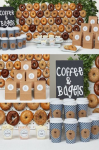 Coffee and Bagels Graduation Food Theme