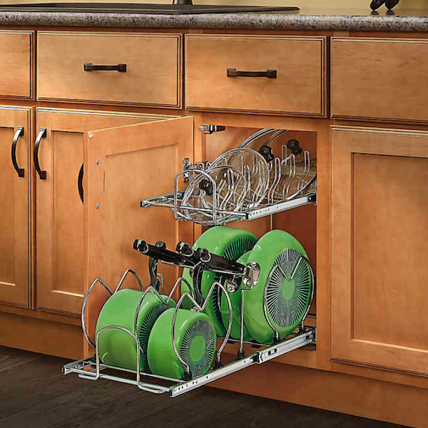 Spring Cleaning: Top Products for Getting (and Staying) Organized | 2-Tier Cookware Organizer