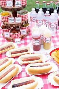 hot dogs for graduation party