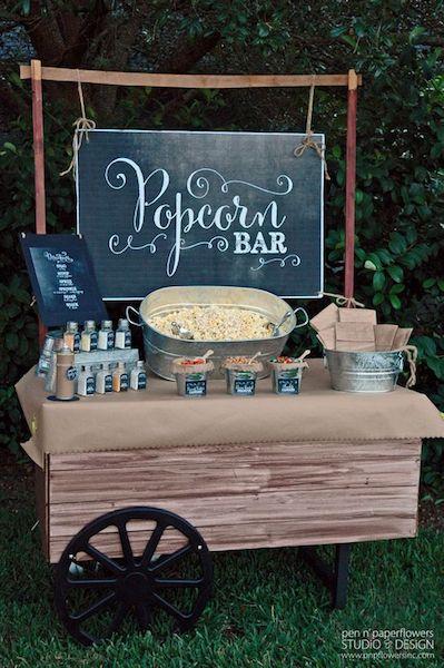 graduation party popcorn bar