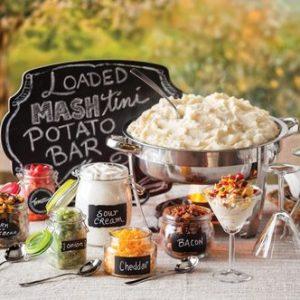 Loaded mash potato bar for graduation party