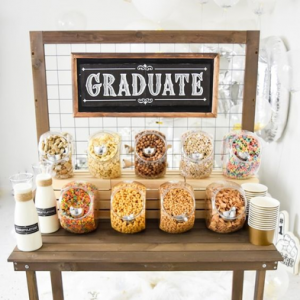 graduate party cereal bar