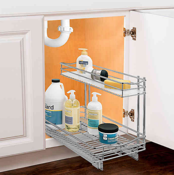 Top Products for Getting (and Staying) Organized | Roll-Out Under Sink Storage