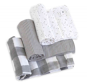 Baby Registry Must-Haves for the Sustainable Mom-To-Be | Burt's Bees Organic Cotton Muslin Swaddle Blankets