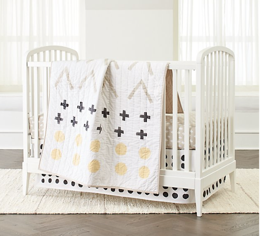 Crate&Kids neutral crib bedding set