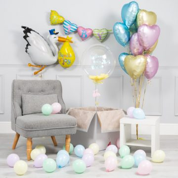 virtual baby shower decor