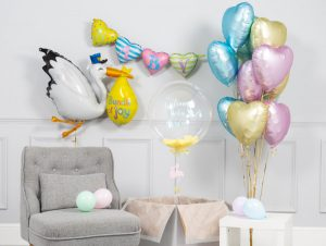 virtual baby shower decor