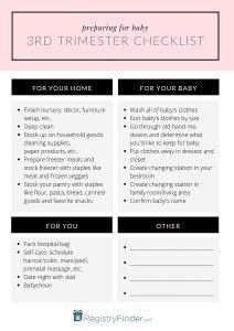 3rd trimester checklist IMAGE