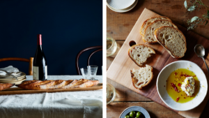 Unfiltered EVOO and a Baguette Board