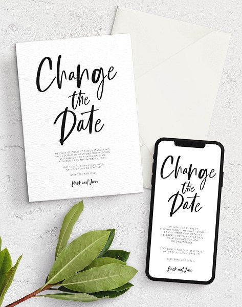 COVID Wedding | Change the Date Digital Invite
