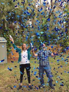confetti cannon gender reveal