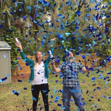confetti cannon gender reveal
