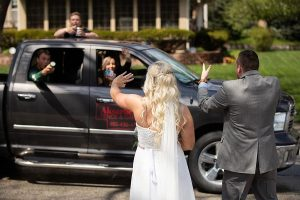 Drive-By Wedding Parade