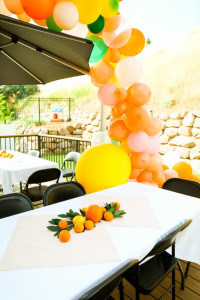 orange tablescape
