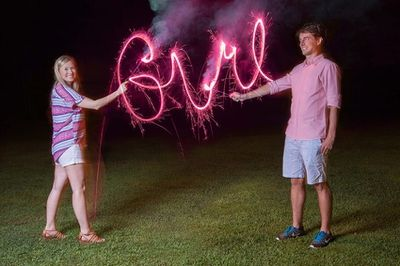 sparkler gender reveal