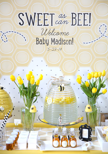 Sweet as Can Bee Baby Shower Theme