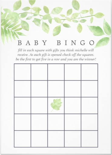 Baby Bingo - Summer Baby Shower