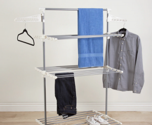 Sustainable Wedding Registry Gifts for the Eco-Conscious Couple | Heavy Duty 3-Tier Laundry Rack