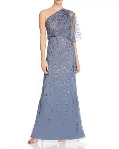 one-shoulder MOB dress