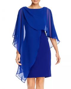 blue sheath MOB dress