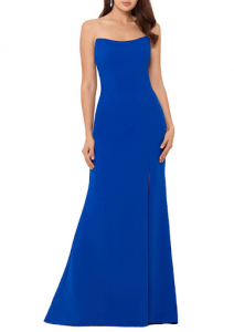 strapless silhouette Mother of the Bride and Groom dress