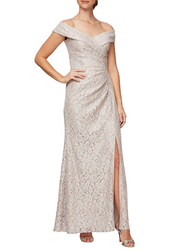 fit-and-flare silhouette Mother of the Bride or Groom dress