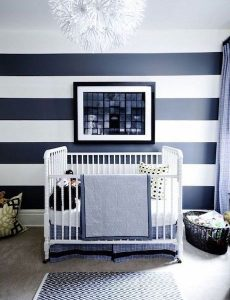big and bold stripes - gender neutral nursery