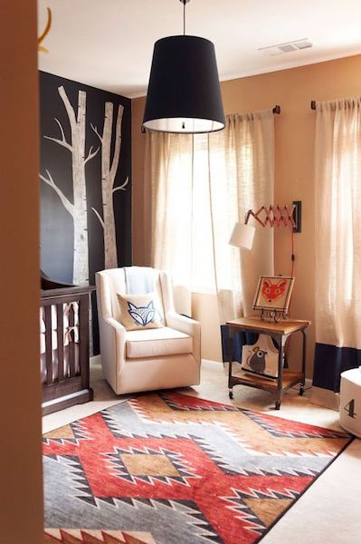 A rug is a perfect way to add a splash of color and warmth to your neutral nursery
