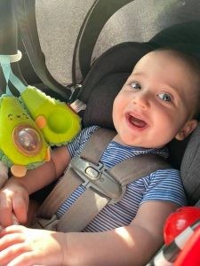 Our son on his first roadtrip