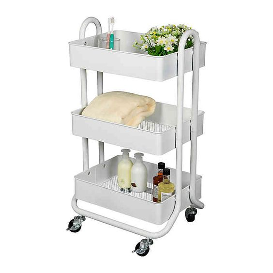 Dorm Essentials | Salt 3 Tier Storage Cart