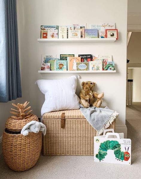 Straw and wicker are great neutral pieces to fill your nursery
