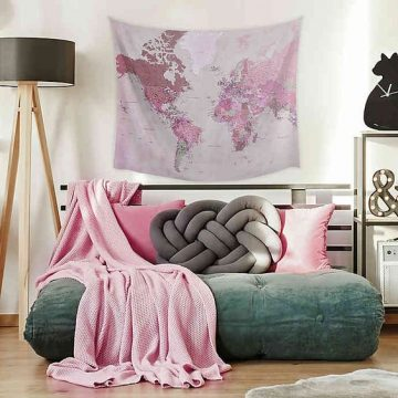 Dorm Essentials | RoomMates Map Tapestry