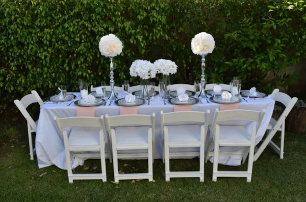 Wedding in a Box comes complete with everything you need to decorate your minimony venue.
