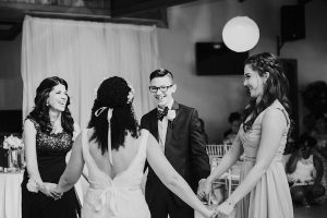 alternative to father of the bride dance | bride dancing with mom and siblings