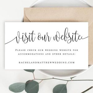 : What Is the Best Way to Share Our Wedding Website Information With Our Guests?