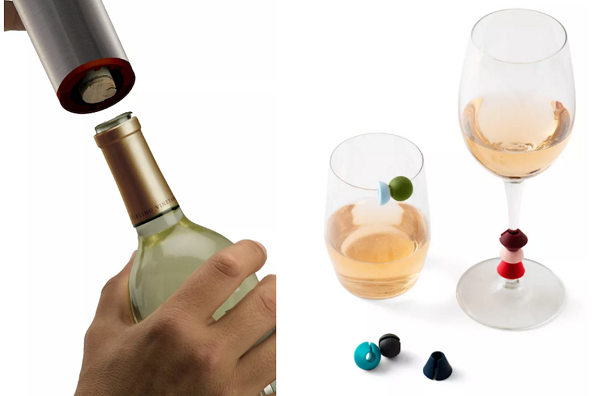 Best Hostess Gifts: Wine Opener and Wine Markers