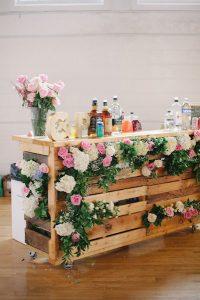 DIY pallet bar wedding reception