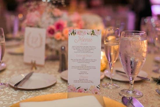 Wedding menu DIY Etsy
