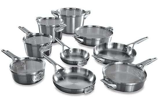 Calphalon Premier Space Saving Stainless Steel 15-Piece Cookware Set