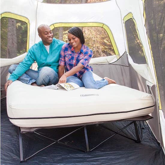 Wedding Registry Items That Will Excite Your Groom   Airbed Cot with Side Table