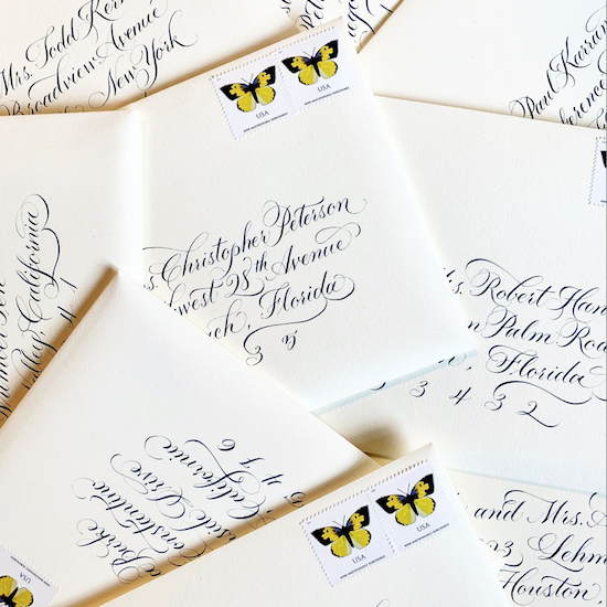 wedding calligraphy   wedding invitations