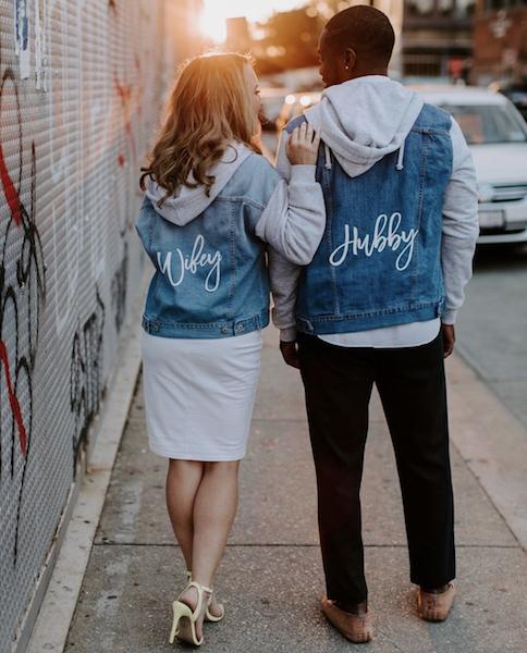 Wifey and Hubby denim jackets