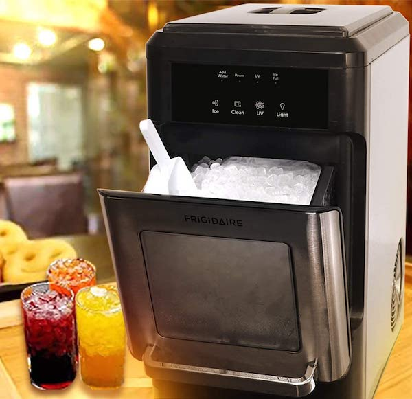 Tech Gifts You'll Love Adding to Your Wedding Registry | Frigidaire Countertop Nugget Ice Maker