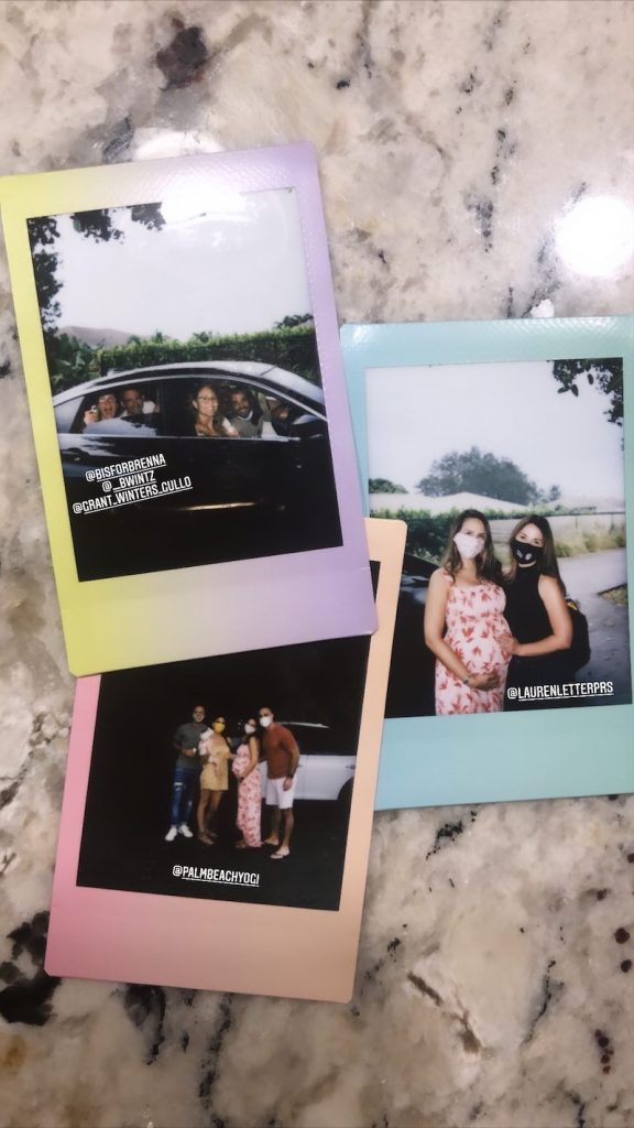 Take instant photos for guests to take home as keepsakes from a one-of-a-kind drive-through baby shower.