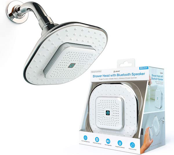 Tech Gifts You'll Love Adding to Your Wedding Registry | Shower Head With Bluetooth Speaker