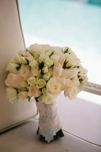 Something old, something new wedding ideas | Bride's bouquet with white roses