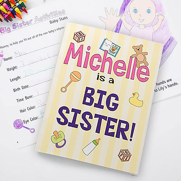Big Sister/Big Brother Personalized Coloring Activity Book & Crayon Set
