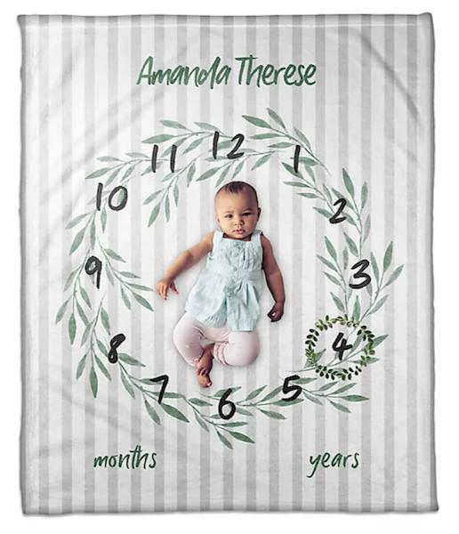 14 Personalized & Sentimental Baby Gifts   Milestone Blanket
