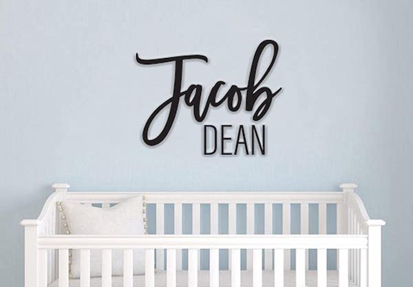 14 Personalized & Sentimental Baby Gifts   Nursery Name Sign
