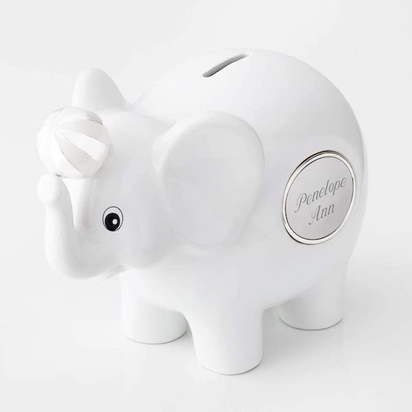 14 Personalized & Sentimental Baby Gifts   Engraved Piggy Bank